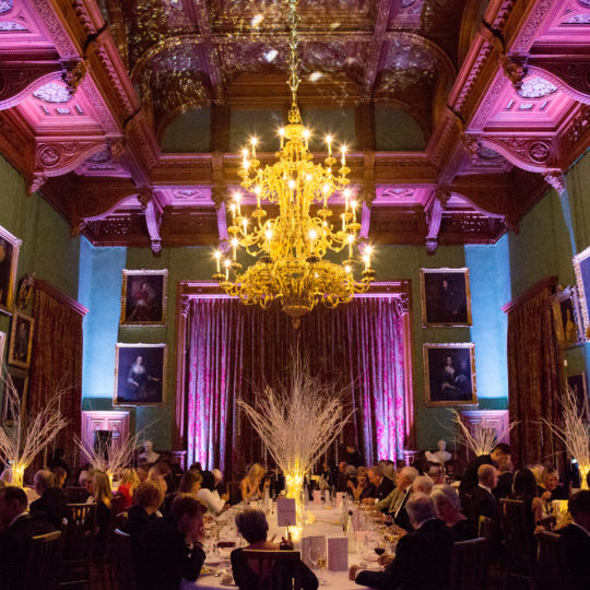 State Dining Room set for a dinner
